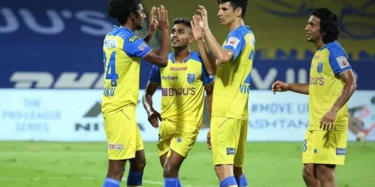 Kerala blasters beat Hyderabad FC to open their account.